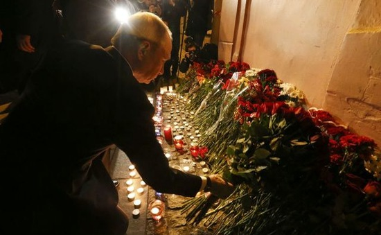 Ông Putin cũng ở St. Petersburg khi xảy ra vụ nổ tàu điện ngầm
