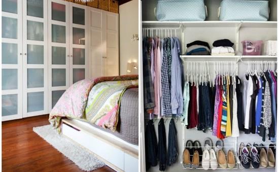 Cách sắp xếp đồ đạc trong tủ quần áo hợp lý nhất