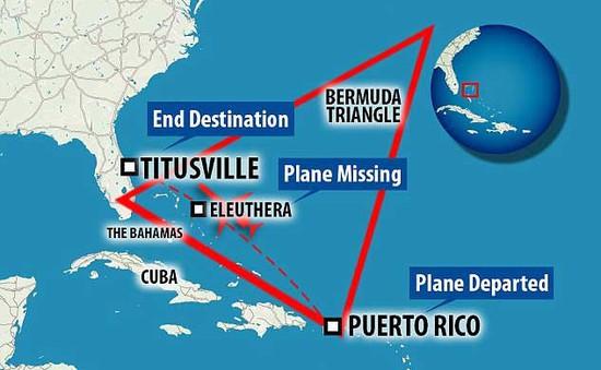 """Máy bay mất tích tại """"tam giác quỷ"""" Bermuda"""