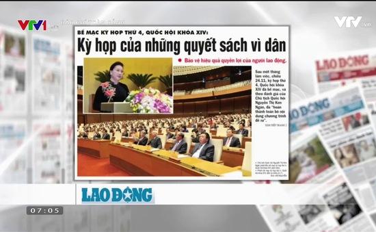 """Báo chí nói về kỳ họp tứ tư Quốc hội khóa XIV: Kỳ họp của """"những quyết sách vì dân"""""""