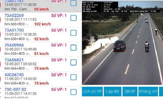 Quảng Bình: Camera phát hiện gần 800 xe vi phạm trên Quốc lộ 1