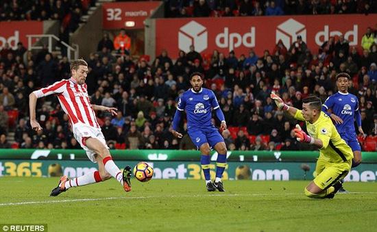 Vòng 23 Ngoại hạng Anh, Stoke 1-1 Everton: Đôi công hấp dẫn