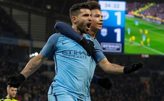 Aguero lập cú đúp, Man City đại thắng trong trận đá lại vòng 5 cúp FA