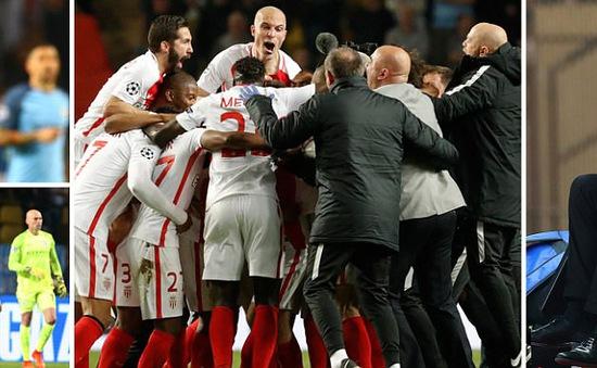 Kết quả vòng 1/8 Champions Leauge sáng 16/3: Monaco 3-1 Man City, Atletico Madrid 0-0 Leverkusen
