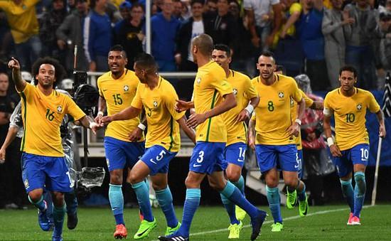 Brazil là đội đầu tiên giành vé tham dự World Cup 2018