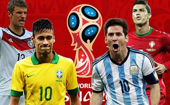 """Đội tuyển nào """"chung mâm"""" hạt giống số 1 tại World Cup 2018 cùng Nga và Brazil?"""