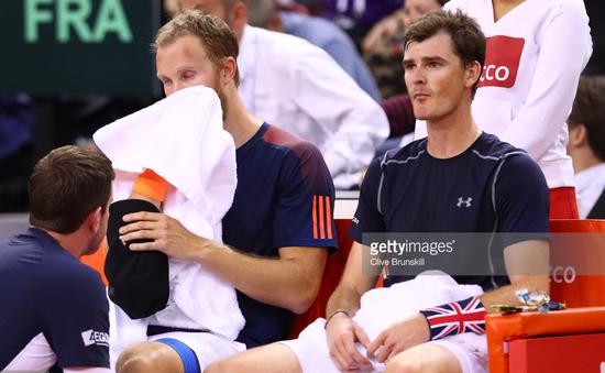 Davis Cup: Thiếu Murray, ĐT VQ Anh dừng bước ở tứ kết
