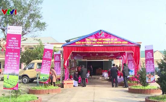 Agribank Hà Tĩnh mở điểm giao dịch lưu động bằng xe ô tô