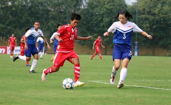 Vòng loại giải bóng đá nữ vô địch châu Á 2018: ĐT Singapore không tạo được bất ngờ trước Myanmar