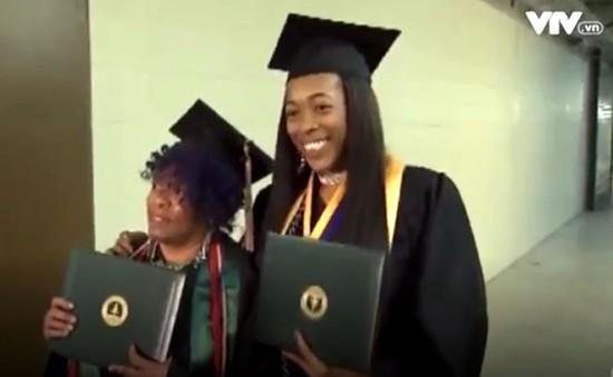 Hai bà cháu cùng tốt nghiệp đại học tại Mỹ