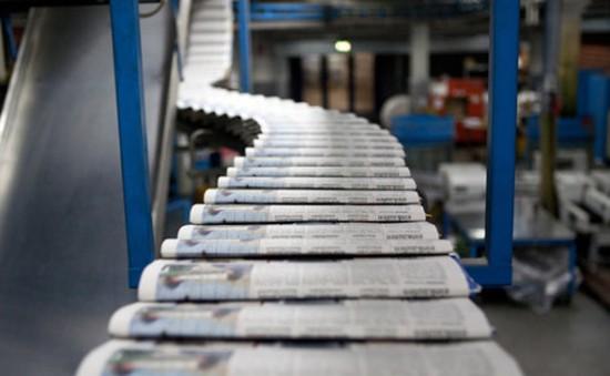 Sụt giảm việc làm trong ngành báo in Mỹ