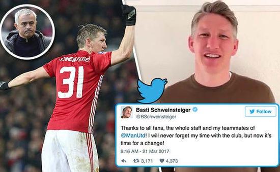 "Cay đắng rời Man Utd, Schweinsteiger ""nhắn nhủ"" gì với Mourinho?"