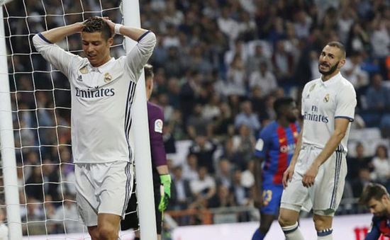 Tam tấu của Real Madrid đạt hiệu suất ghi bàn thấp kỷ lục