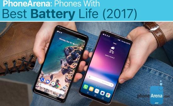 """Smartphone nào có pin """"trâu bò"""" nhất năm 2017?"""
