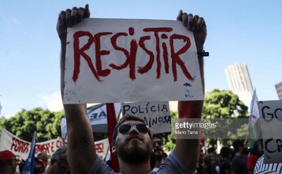 Biểu tình phản đối các biện pháp khắc khổ ở Brazil