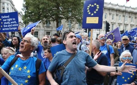 Anh rầm rộ biểu tình phản đối chia tay châu Âu