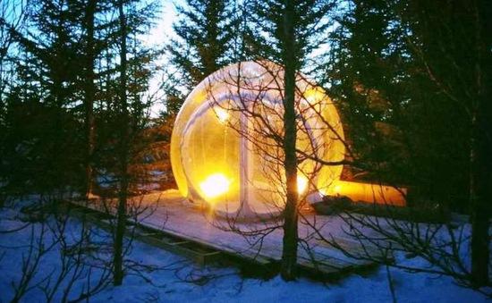 Trải nghiệm khách sạn trong suốt ở Iceland