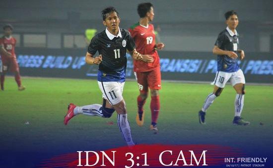 ĐT Campuchia thua ĐT Indonesia trước trận đấu gặp ĐT Việt Nam