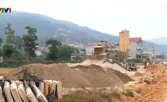 Thiếu nguyên liệu cát xây dựng ở các tỉnh miền Bắc