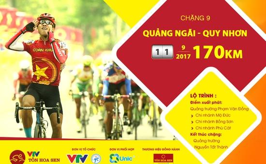 Lộ trình chặng 9 giải xe đạp quốc tế VTV Cúp Tôn Hoa Sen 2017