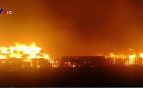 Cháy lớn tại thành phố Thiên Tân, Trung Quốc