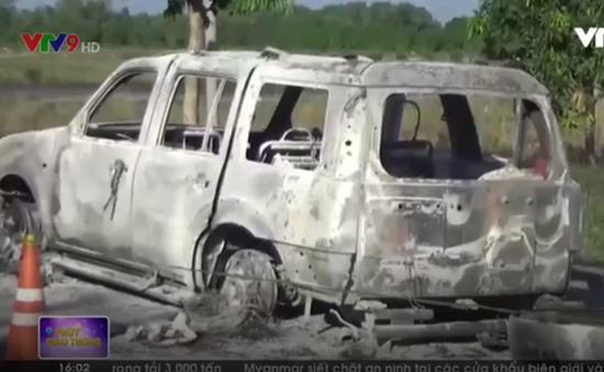 Khởi tố vụ án liên quan đến vụ ô tô bị cháy trên QL61C