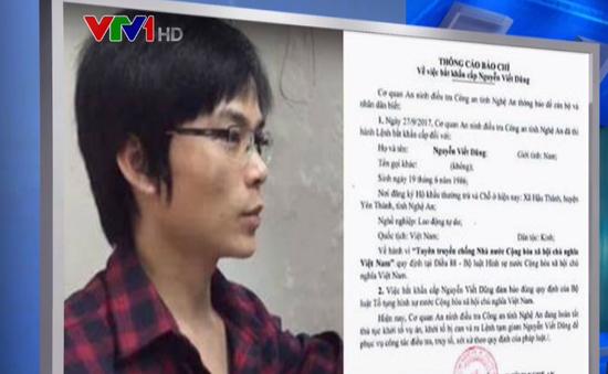 Nghệ An: Bắt đối tượng có hành vi tuyên truyền chống Nhà nước