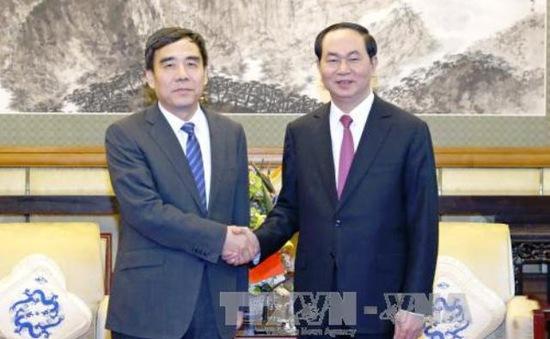Chủ tịch nước tiếp lãnh đạo các tập đoàn Trung Quốc