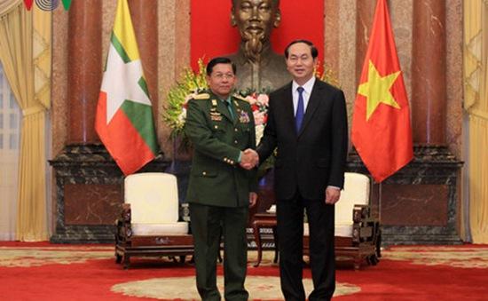 Chủ tịch nước tiếp Tư lệnh Các lực lượng vũ trang Myanmar
