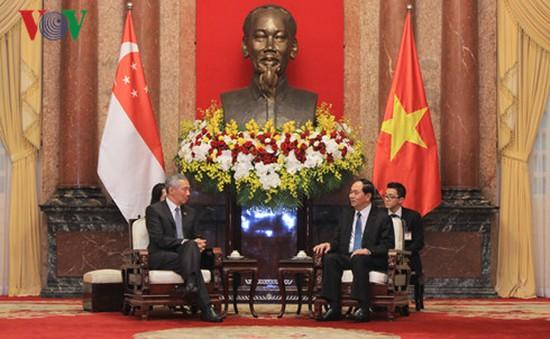Chủ tịch nước tiếp Thủ tướng Singapore