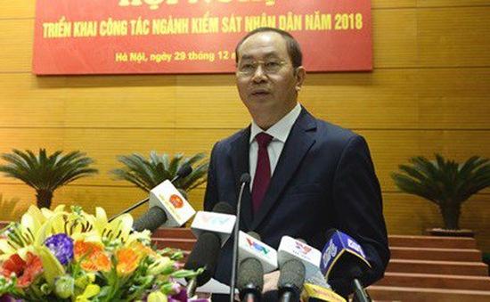 """Chủ tịch nước Trần Đại Quang: """"Xét xử nghiêm minh các vụ án tham nhũng, kinh tế lớn"""""""