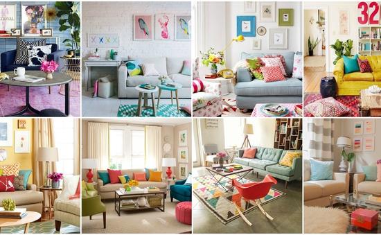 """""""Thổi hồn"""" cho phòng khách trong nhà bằng sắc màu rực rỡ"""