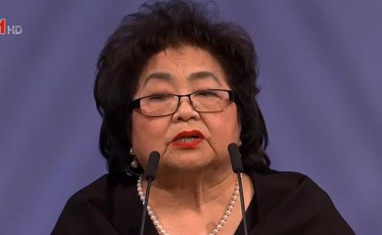 Cụ bà sống sót trong thảm họa hạt nhân Hiroshima nhận giải Nobel Hòa bình