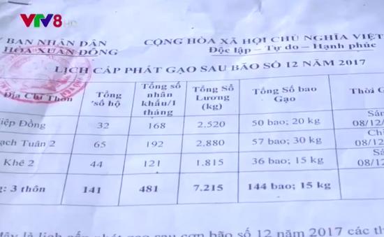 Những khuất tất sau việc người dân Phú Yên trả lại gạo hỗ trợ bão 12