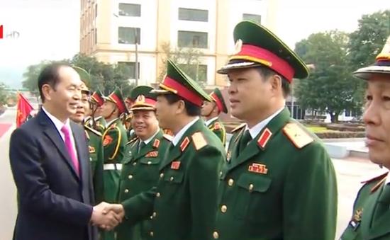 Chủ tịch nước đề nghị: Quân khu 1 đổi mới công tác huấn luyện, không để bị động, bất ngờ trong mọi tình huống