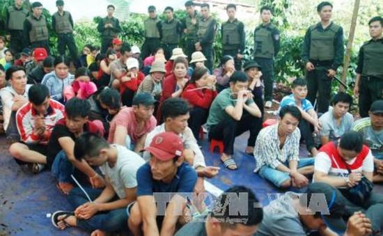 Đắk Lắk: Bắt quả tang vụ đánh bạc quy mô lớn