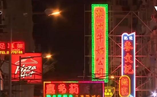 Bảng hiệu đèn neon truyền thống mai một dần tại Hong Kong (Trung Quốc)