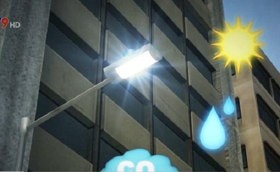 Đèn đường đo được cả chất lượng không khí