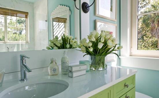 Mẹo bài trí ấn tượng cho phòng tắm diện tích nhỏ