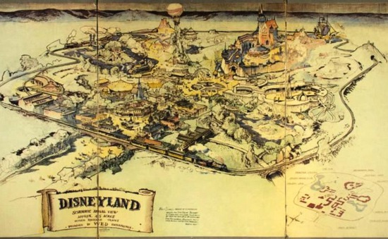 Đấu giá tấm bản đồ đầu tiên của Walt Disney