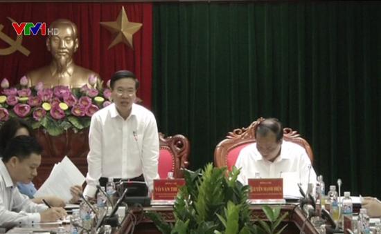 Trưởng ban Tuyên giáo Trung ương Võ Văn Thưởng làm việc với Ban Thường vụ Tỉnh ủy Hải Dương