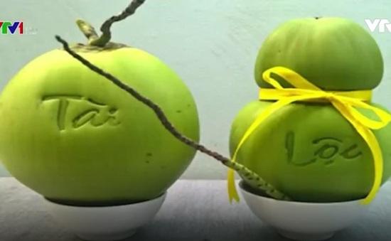 Dừa Phúc Lộc Thọ: Sản phẩm mới cho mâm ngũ quả Tết