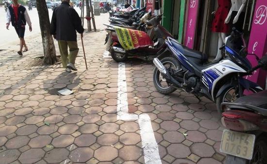 Vạch kẻ đường dành cho người đi bộ chưa phù hợp