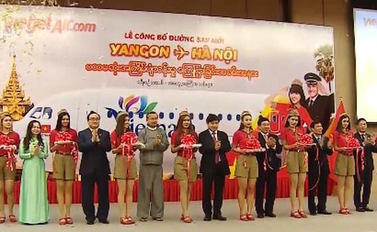 Khai trương đường bay Hà Nội - Yangon