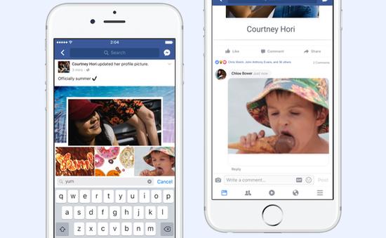 Facebook cho phép bình luận bằng ảnh GIF