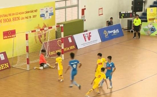 Tổng quan vòng bảng Giải futsal trẻ em có hoàn cảnh đặc biệt 2017