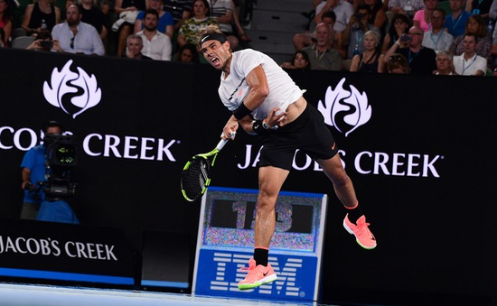 Australia mở rộng 2017: Vượt ải Monfils, Nadal góp mặt ở tứ kết