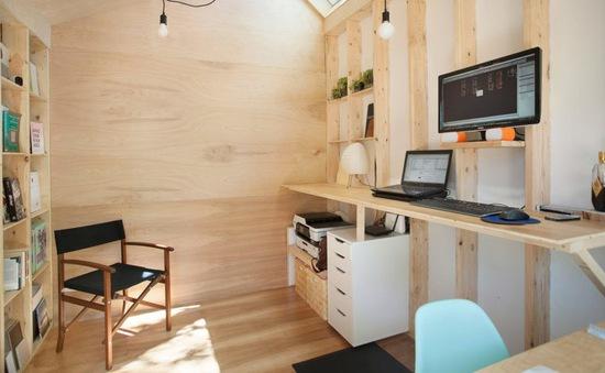 Studio làm việc siêu nhỏ với khoảng không gian tiện ích