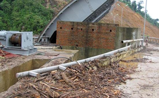Gỗ thượng nguồn dồn về đập thủy điện