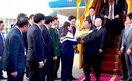 Tổng Bí thư, Chủ tịch nước CHDCND Lào thăm Nghệ An